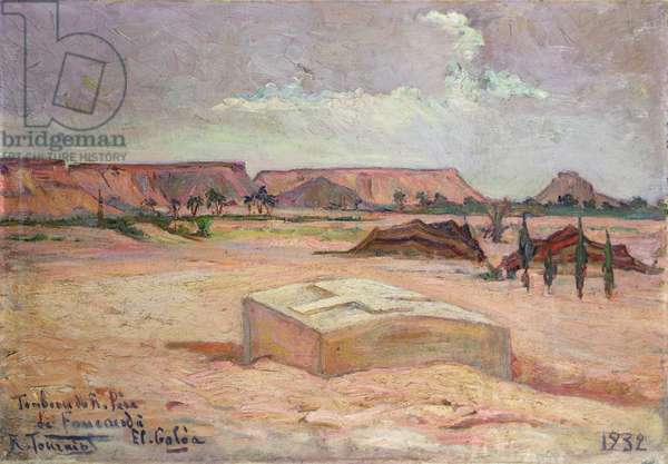 Tomb of Father Charles Eugene de Foucauld (1858-1916) at El Galea, 1932 (oil on canvas)
