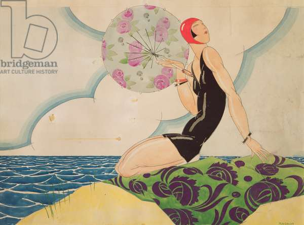 Bather, c.1925 (w/c on paper)