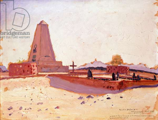 Tomb of Father Charles Eugene Foucauld, the Monument of General Laperrine and the Tomb of three Meharistes of the French Camel Corps, 1928