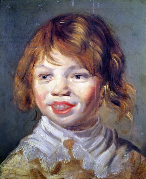 The Laughing Child (oil on canvas)