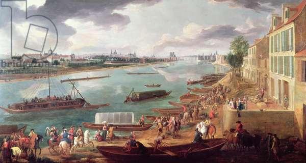 View of Paris from the Quai de la Rapee (oil on canvas) (see also 231147 & 365071)
