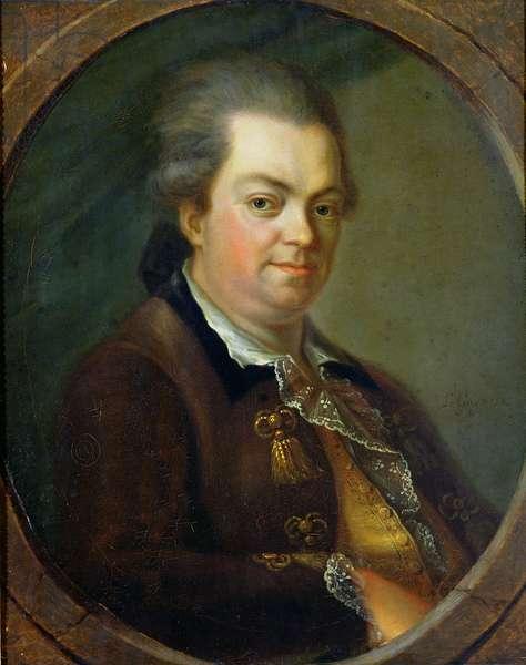 Portrait presumed to be Count Alessandro di Cagliostro (1743-95) 1778 (oil on canvas)