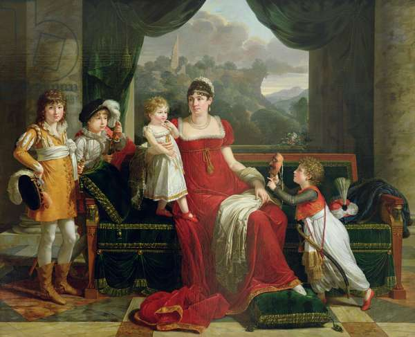 The Duchess of Feltre and her Children, 1810 (oil on canvas)