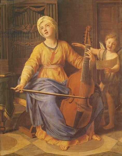 St. Cecilia (oil on canvas)