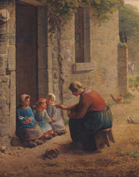 Feeding the Young, 1850 (oil on canvas)