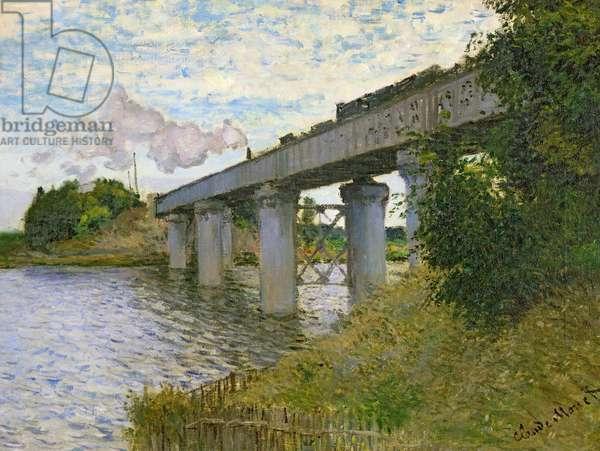 The Railway Bridge at Argenteuil, 1874 (oil on canvas)