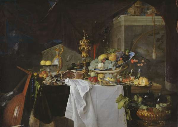 A Table of Desserts, 1640 (oil on canvas)