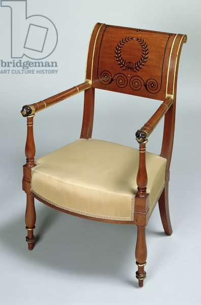 Fontainebleau armchair, 1796-1803 (mahogany)
