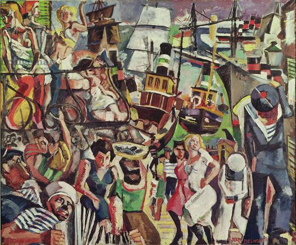 The Port of Call, 1940 (oil on canvas)