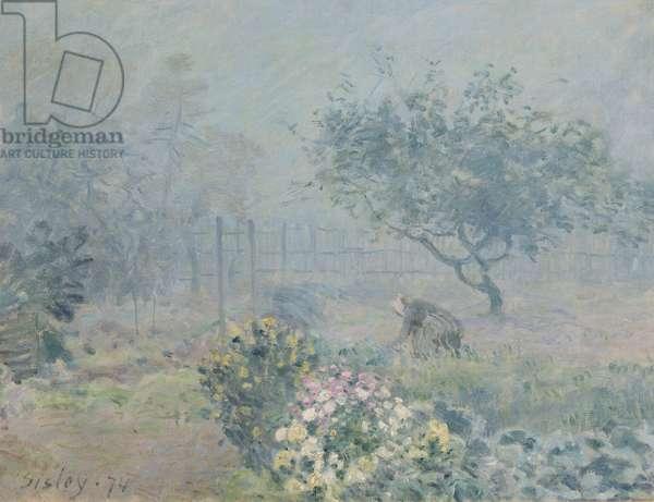 The Fog, Voisins, 1874 (oil on canvas)