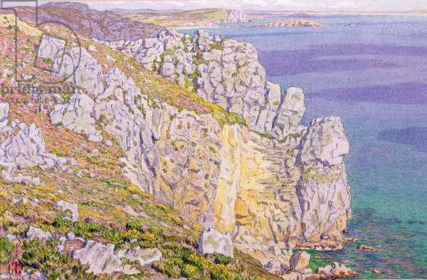 Morgat, Cliffs at Port Haor (w/c on paper)