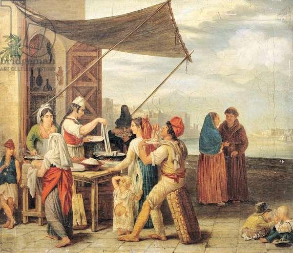 The Italian Market (oil on canvas)