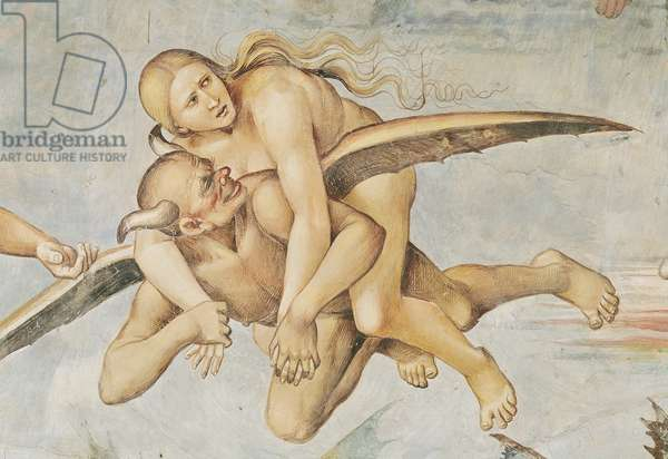 One of the Damned Riding on a Devil, from the Last Judgement (fresco) (detail)