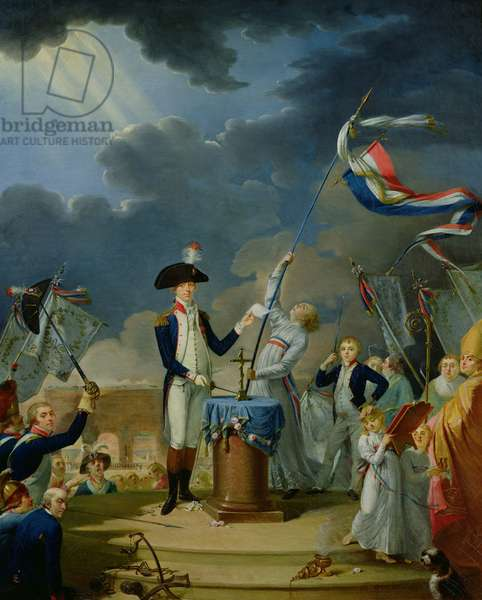 The Oath of Lafayette at the Festival of the Federation, 14th July 1790, 1791 (oil on canvas)