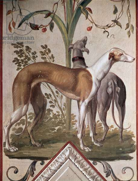 Two Greyhounds (mural)