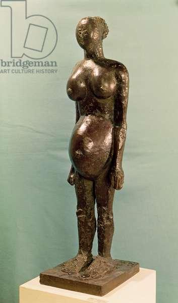The Pregnant Woman, 1950-59 (bronze)