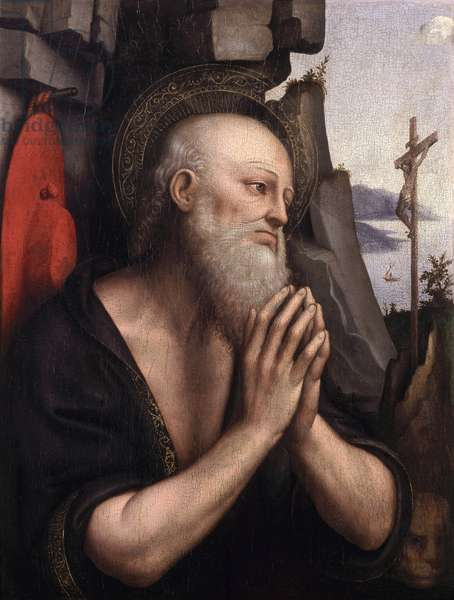 The Penitent St. Jerome (oil on panel)