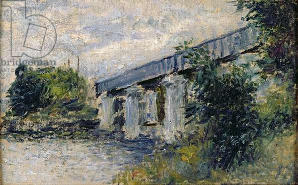 Railway Bridge at Argenteuil, 1874 (oil on canvas)