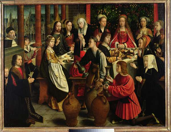 The Marriage Feast at Cana, c.1500-03 (oil on panel)