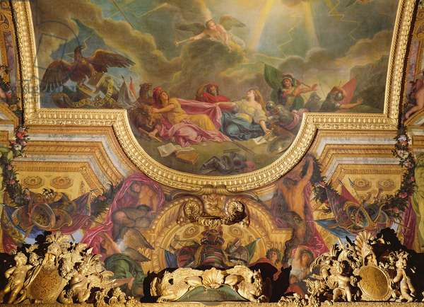 The Strategy of the Spanish Ruined by the Taking of Ghent, ceiling painting from the Galerie des Glaces