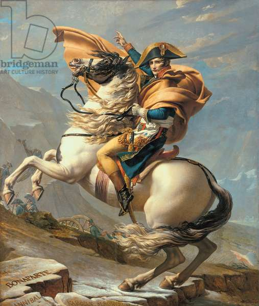Napoleon (1769-1821) Crossing the Alps at the St Bernard Pass, 20th May 1800, c.1800-01 (oil on canvas)