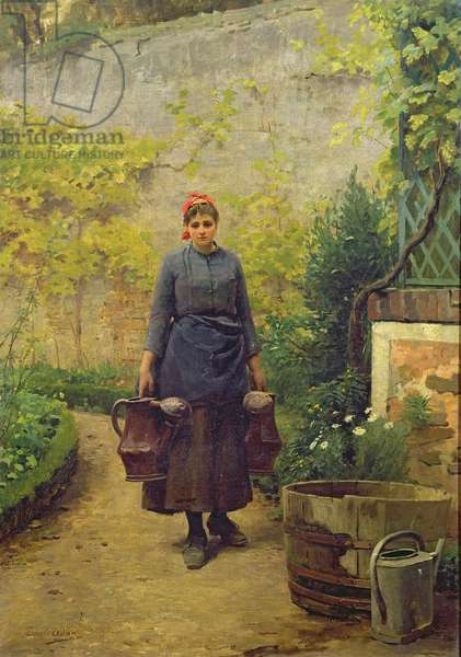 Woman with Watering Cans (oil on canvas)