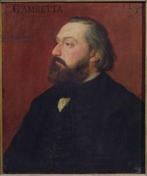 Leon Gambetta (1838-82) 1875 (oil on canvas)