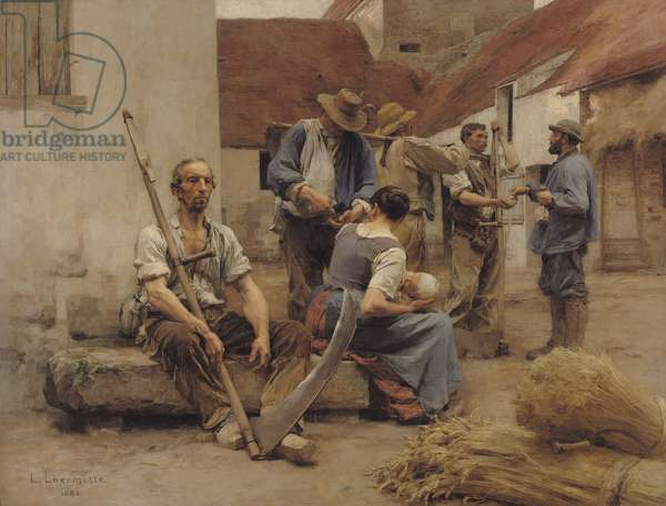 Paying the Harvesters, 1882 (oil on canvas)