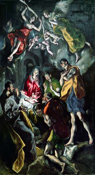 The Adoration of the Shepherds, from the Santo Domingo el Antiguo Altarpiece, c.1603-14 (oil on canvas)
