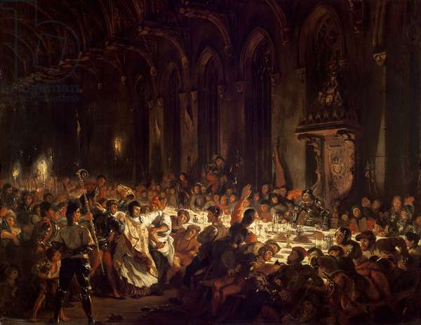 The Assassination of the Bishop of Liege, 1829 (oil on canvas)