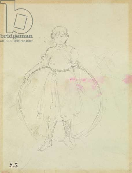 Young Girl with a Hoop, 1888 (graphite on paper)