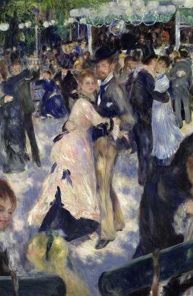 Le Moulin de la Galette, detail of the dancers, 1876 (oil on canvas)