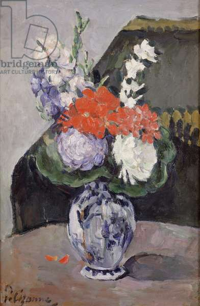 Flowers in a Small Delft Vase, c.1873 (oil on canvas)