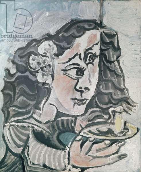 Dona Maria Agustina Sarmiento, no.3 from 'Las Meninas', 1957 (oil on canvas)