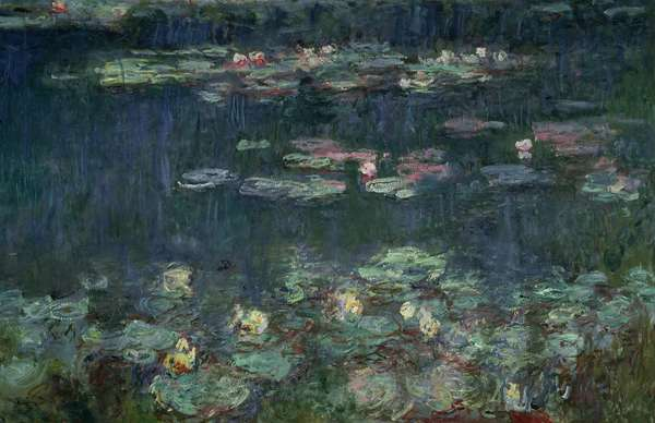 Waterlilies: Green Reflections, 1914-18 (right section) (oil on canvas) (see also 70302 & 56004)