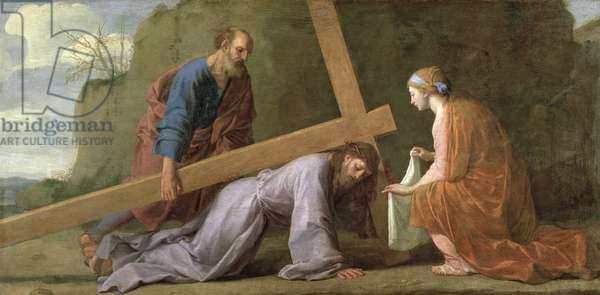 Jesus carrying his cross (carrying the cross or path of the cross), c.1651 (oil on canvas)