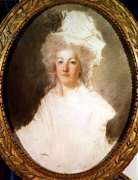 Unfinished portrait of Marie-Antoinette (1774-92) 1770-1819 (pastel on paper)