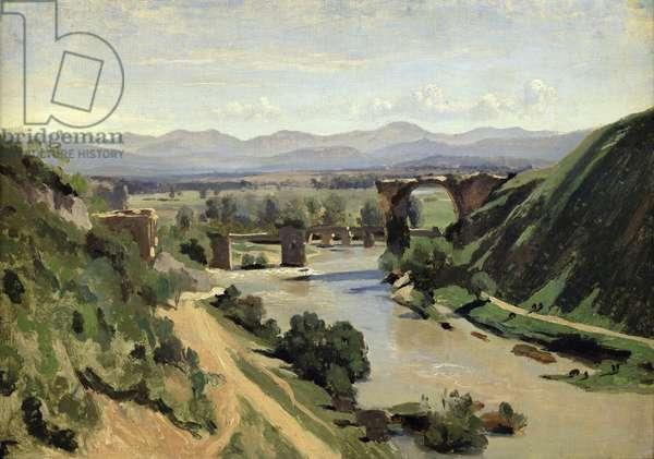 Narni, The Bridge of Augustus over the Nera (oil on canvas)
