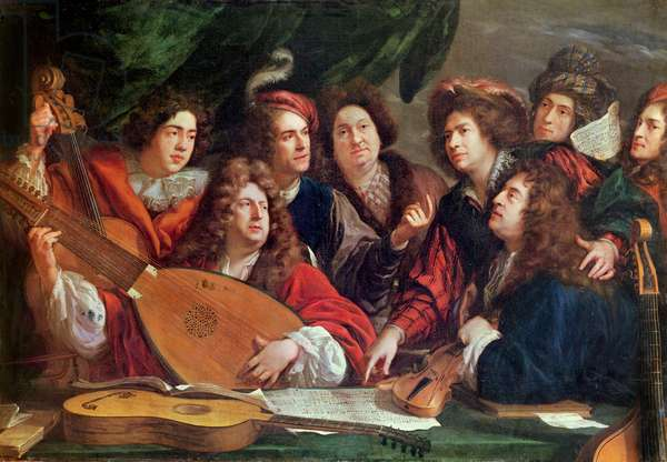 The Musical Society, 1688 (oil on canvas)