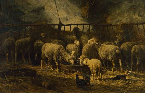 The Large Sheepfold, 1881 (oil on canvas)