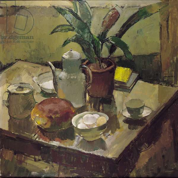 Still Life with Eggs (oil on canvas)