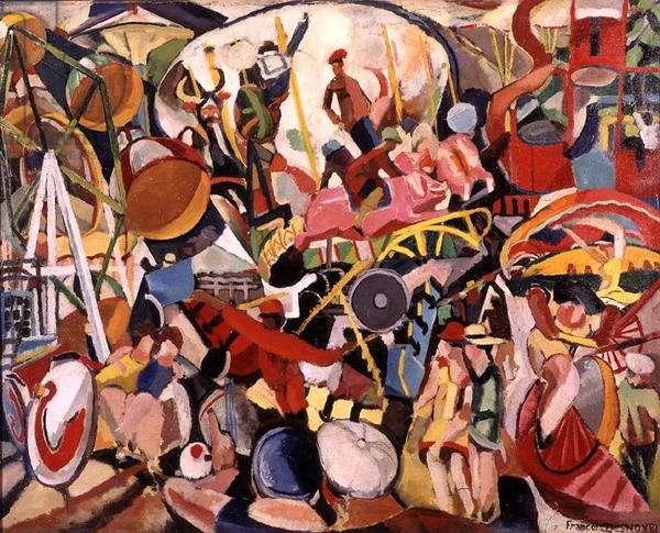 The Throne Fair (oil on canvas)