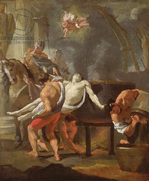 A sketch of The Martyrdom of Saint John the Evangelist, 1641, (oil on canvas)