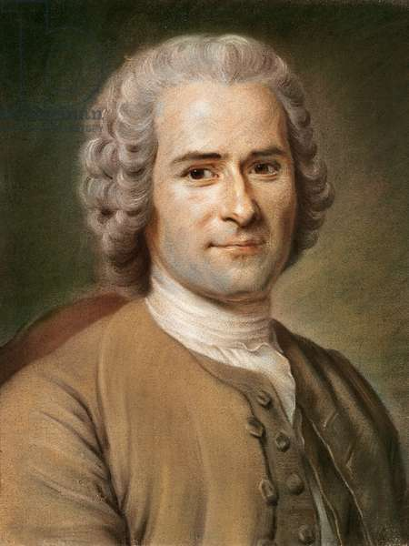 Jean-Jacques Rousseau (1712-78) after 1753 (pastel on paper)