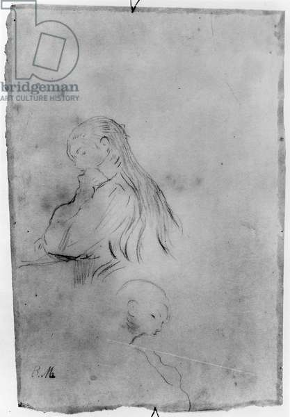 Young Girl Writing, 1891 (charcoal on paper)