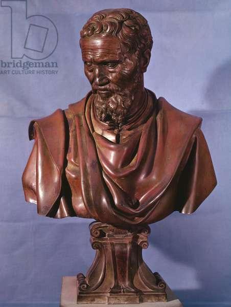 Bust of Michelangelo Buonarroti (1475-1564) (bronze)