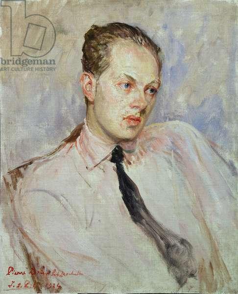 Study for a portrait of Pierre Drieu La Rochelle (1893-1945) 1924 (oil on canvas)