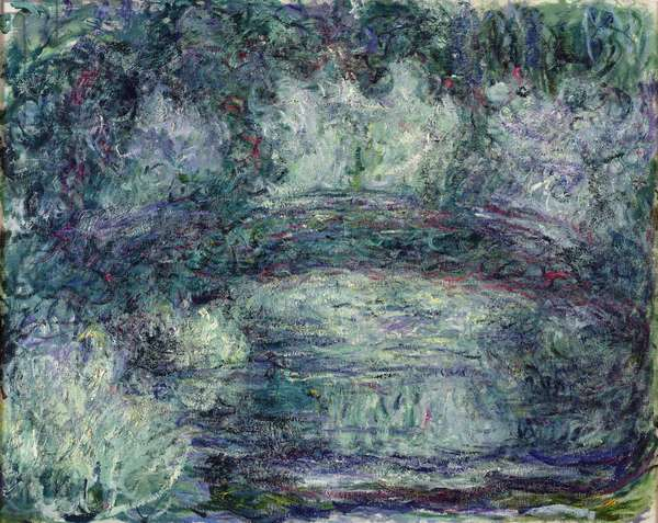 The Japanese Bridge, 1918-19 (oil on canvas) (see detail 382336)