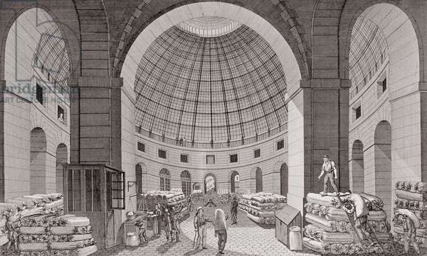 View of the Wheat Market and the Cupola, 18th-19th century (engraving)
