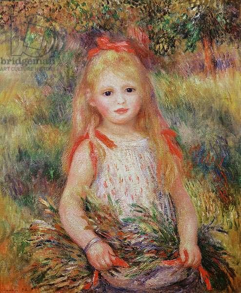 Little Girl Carrying Flowers, or The Little Gleaner, 1888 (oil on canvas)